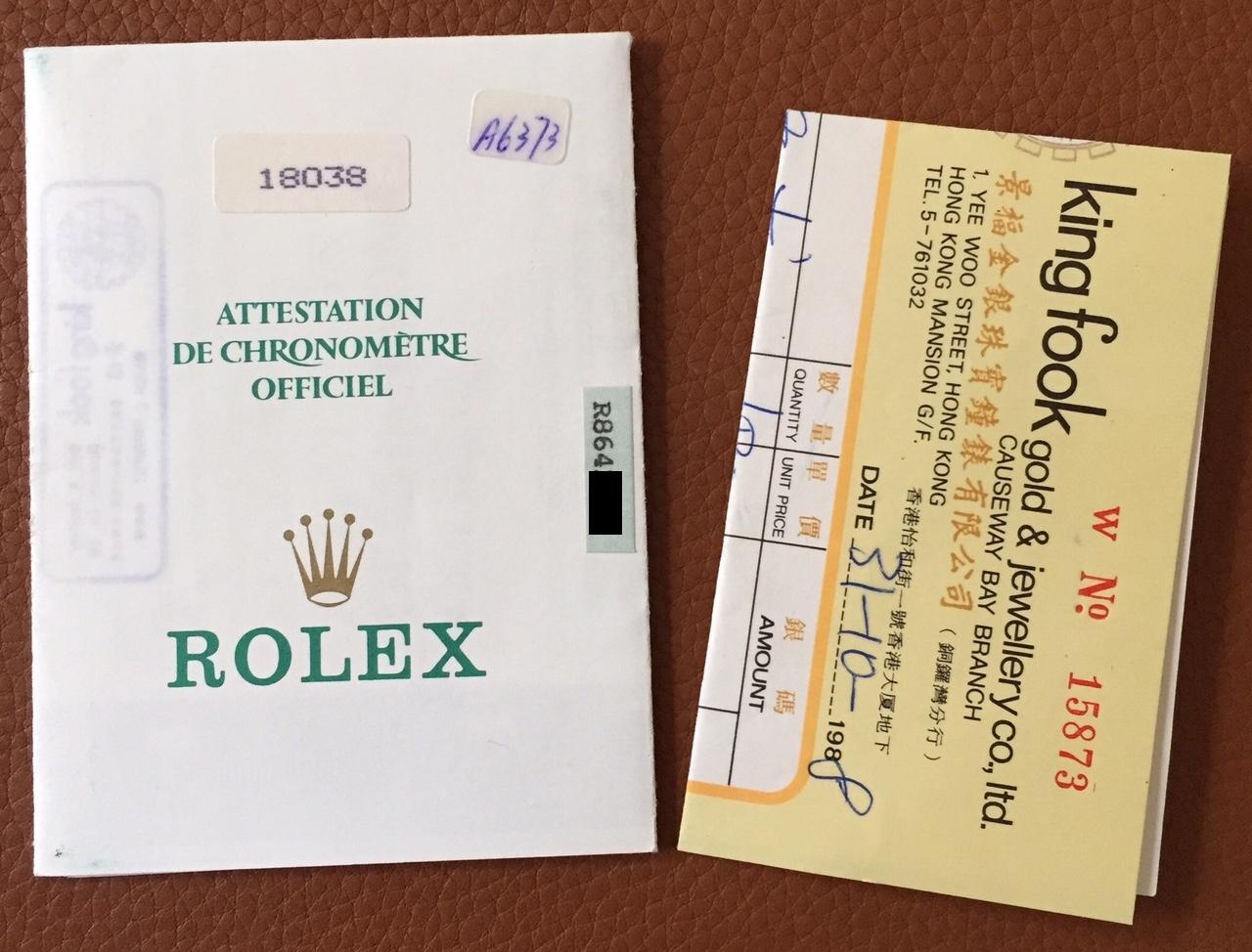 Rolex 18038 bloodstone